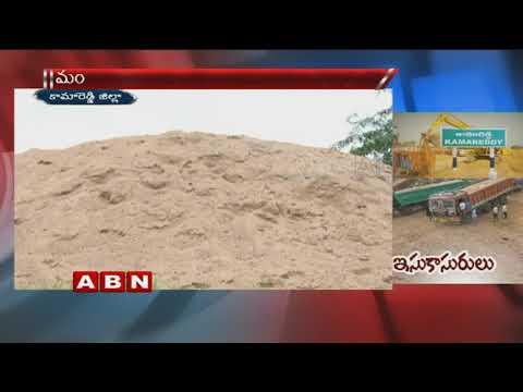 Illegal sand mining in Karimnagar | ABN Telugu
