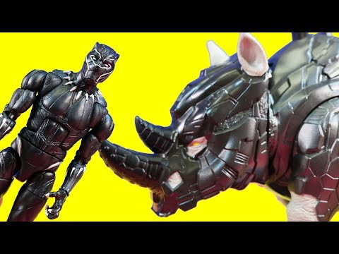 Marvel Black Panther Collection With Shuri Legends Series Figures And Rhino Guard Vehicle