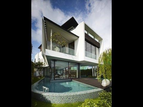 Dise o de casa moderna de dos pisos con azotea jard n for Casa moderna minimalista interior 6m x 12 50m
