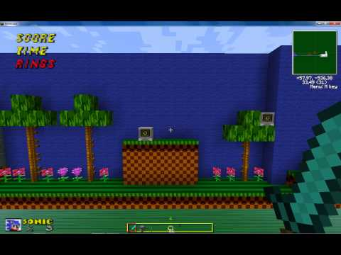 Mapa do Sonic com texture pack + Download para  Minecraft 1.5
