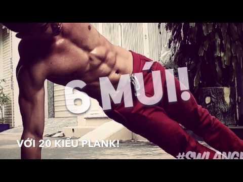 Tập bụng trong 3 phút - Tập bụng 6 múi đơn giản hiệu quả - Plank Variations
