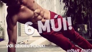 Tập bụng trong 3 phút với 20 sắc thú PLANK - Plank Variations