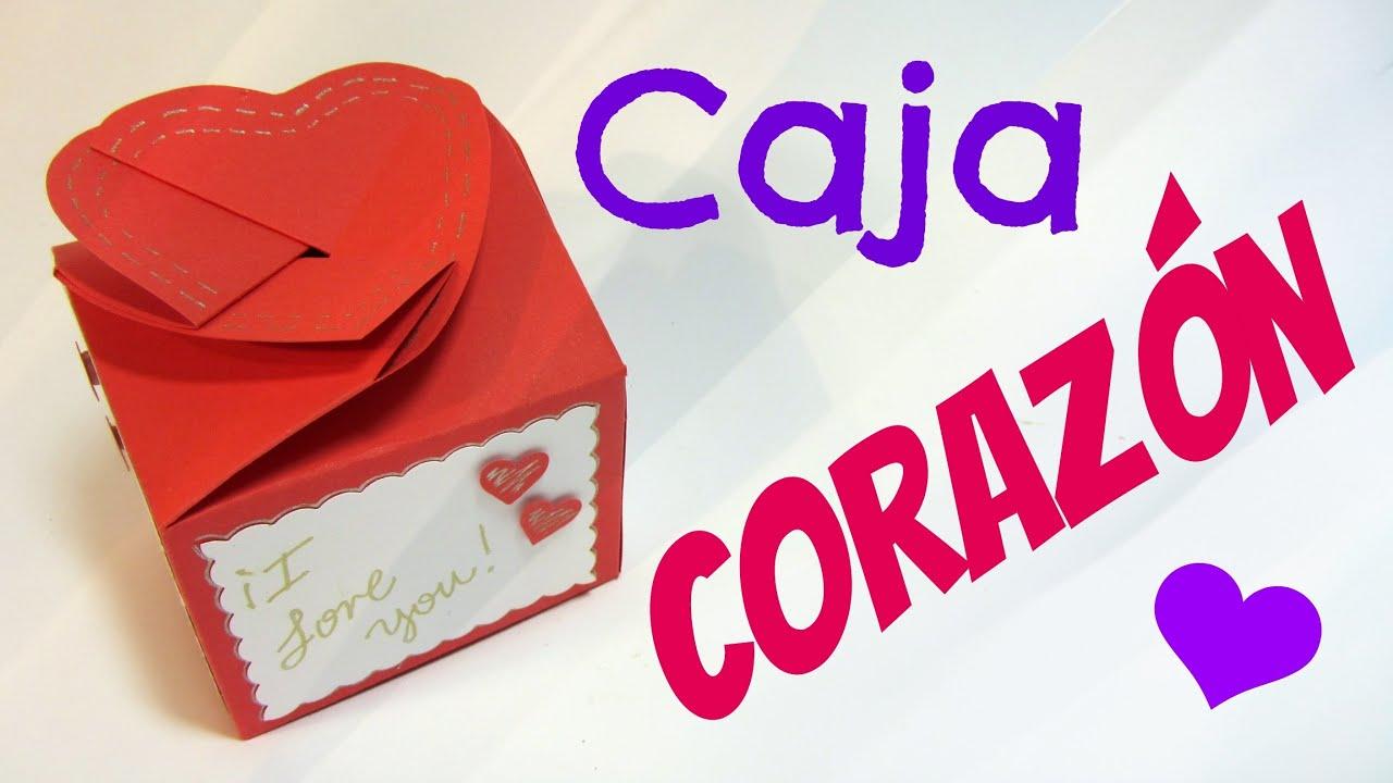 tutorial caja coraz n san valent n heart box   youtube