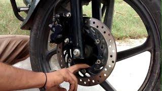 Honda Shine disc brake service