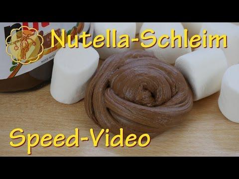 Speed-Video: Essbarer Nutella-Schleim - nur 2 Zutaten - ohne Kleber