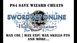Sword Art Online: Hollow Realization | Max Col, Max Skill Pts & Level and More - PS4 Save Wizard
