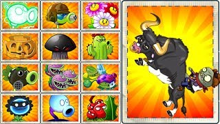 Every Plants Power UP vs Rodeo Legend Zombie Plants vs Zombies 2 Gameplay