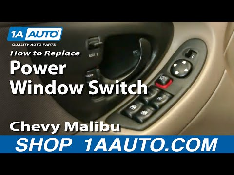 How to Install Replace Broken Power Window Switch Chevy Malibu 97-03 1AAuto.com