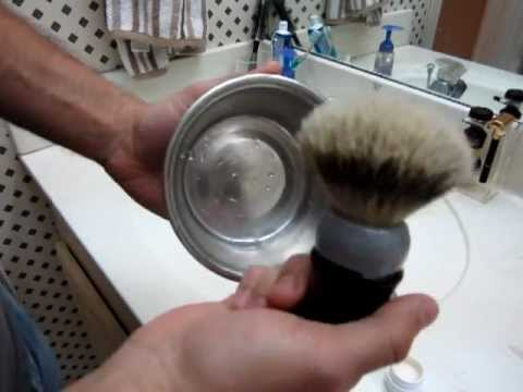 Building Lather with Whipped Dog 24mm Silvertip Shaving Brush and TOBS Sandalwood