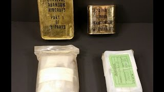 Vietnam War Airforce Survival Rations & Pilots Kit MRE Review US 1969 Abandon Aircraft Food Packet