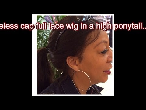 How to wear a glueless full lace wig in a high ponytail