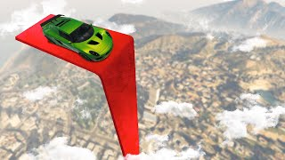 IMPOSSIBLE VERTICAL RAMP FROM HEAVEN! (GTA 5 Funny Moments)