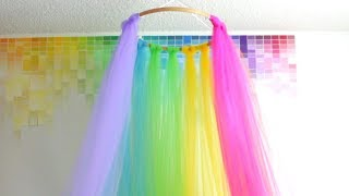 DIY Rainbow Canopy | HG Craft | HelloGiggles