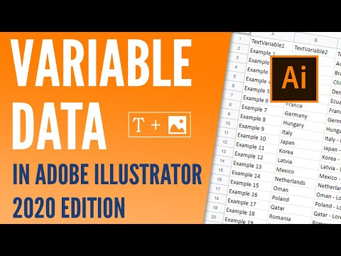 Variable data, text and images in Adobe Illustrator CC - 2020 edition