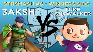 BTHSmash #6 - 3aksh (Ike) vs Luke Snywalker (Villager) - Winners Round 1 - Smash 4