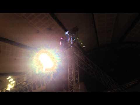 Tyler Joseph climbing another mall railing thing in Manila during Car Radio