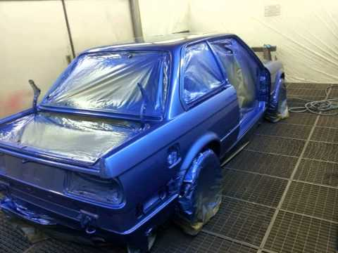 BMW E30 Restoration Estoril Blue