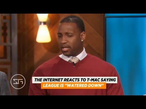 Tracy McGrady Backing up his Watered Down Comments | ESPN The Jump (2016)