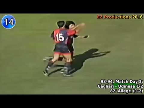 Massimiliano Allegri - 20 goals in Serie A (Pescara, Cagliari, Perugia 1992-1997)
