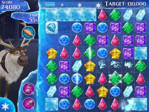 Frozen Free Fall Level 101 Live Action Play Walkthrough