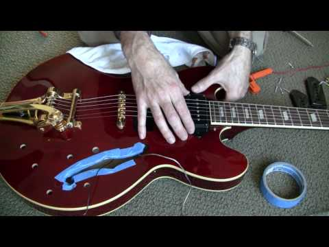 Replacing Pickups In a Semi-Hollow Body Guitar. part 1: Prep and Filling Holes