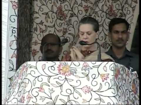 Sonia Gandhi's full speech during inauguration ceremony of Banihal-Qazigund rail link