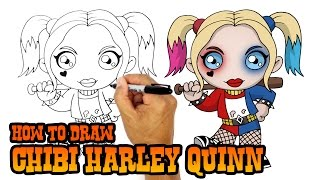 How to Draw Harley Quinn   Suicide Squad