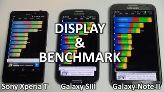 Sony Xperia T vs Samsung Galaxy S3 & Note 2_ Benchmark & Display | SwagTab