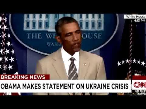 Obama: Russia Is Behind Violence in Eastern Ukraine