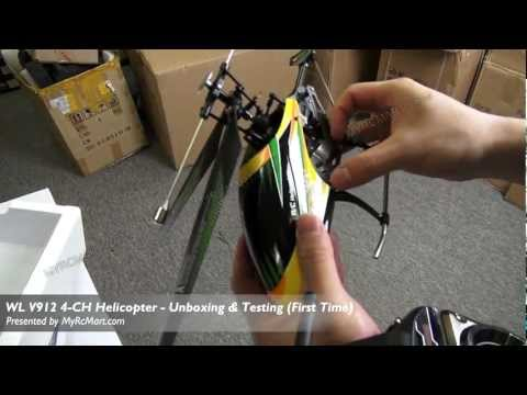 WL Toys V912 4CH 2.4Ghz RTF Helicopter (For Outdoor Flight) Test Flight Review - MyRcMart.com