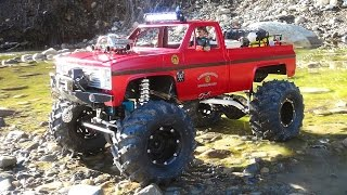 RC ADVENTURES - RiVER RESCUE Attempt - Chevy Beast 4x4 Radio Control Truck