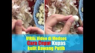 VIRAL Video di Medsos Cara Cepat Kupas kulit Bawang Putih dalam Hitungan Detik
