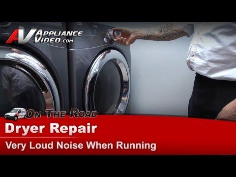 Dryer Repair - Very Loud Noise When Running -Repair & Diagnostic - LG - DLE5955G