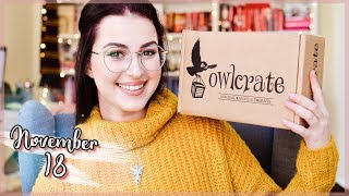 OWLCRATE NOVEMBER 2018 UNBOXING | Book Roast