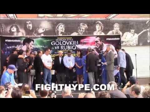 GENNADY GOLOVKIN VS. MARCO ANTONIO RUBIO WEIGH-IN AND FACE OFF [HD]