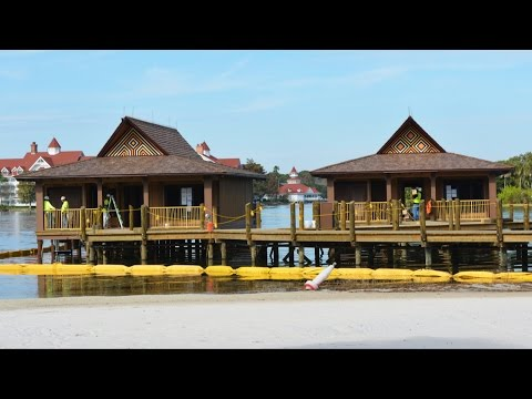 Disney's Polynesian Resort DVC Bungalow & Volcano Pool Progress; Trader Sam's Entrance; New Lobby