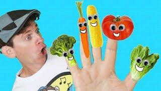 Finger Family Song - Vegetables With Matt | Nursery Rhymes, Children's Song | Learn English Kids