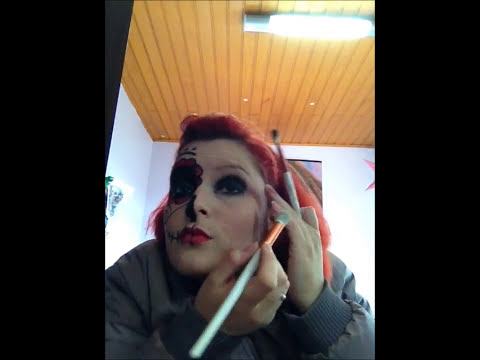 Blog Opção C - Tutorial Make Up Caveira Mexicana