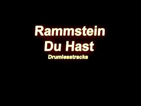 Rammstein - Du Hast [drumlesstrack] video