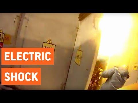電気技師が変圧器を触っていると・・・炎上!