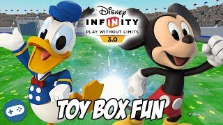 Donald Duck and Mickey Mouse Disney Infinity 3.0 Toy Box Fun Gameplay