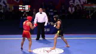 2nd SportAccord World Combat Games (2013) - Wushu (Sanda) - Men's 75kg Round Robin 1