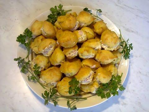 Картофельные профитроли. Potato profiteroles/
