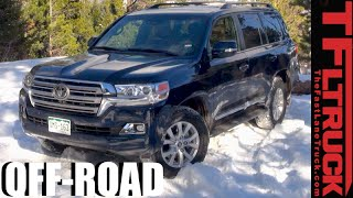 2016 Toyota Land Cruiser Real World MPG Test & Snowy Off-Road Review