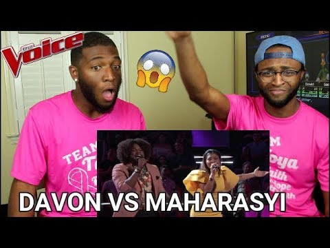 The Voice 2017 Battle  Davon Fleming vs Maharasyi: Im Your Ba Tonight REACTION