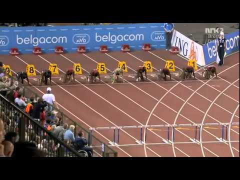 100m Hurdles Woman Diamond League Brussels 2011 Sally Pearson falls