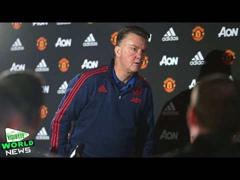 Louis Van Gaal Storms Out of Manchester United Press Conference || World News
