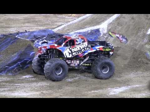 Nitro Circus Backflip at Monster Truck Jam 2010 Jacksonville Video