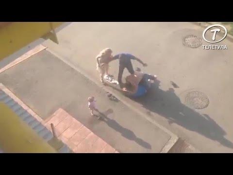 В Туле на глазах у ребенка избили мужчину