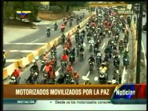 Motorizados Bolivarianos comienzan marcha por la paz vía Palacio de Miraflores